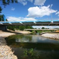 Budowa mostu nad Pilicą w Maluszynie